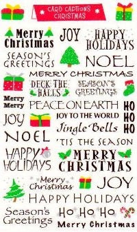 Christmas Card Captions Stickers by Mrs. Grossman's