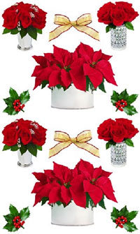 Christmas Flowers Stickers by Mrs. Grossman's
