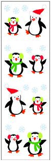 Christmas Penguins Stickers by Mrs. Grossman's