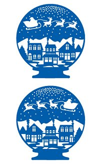 Christmas Snow Globe Stickers by Mrs. Grossman's