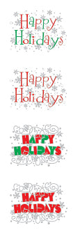 Expressions Happy Holidays (Refl) Stickers by Mrs. Grossman's