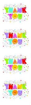 Expression Thank You (Refl) Stickers by Mrs. Grossman's