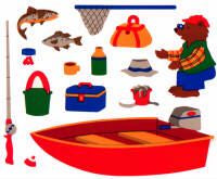 Fishing Stickers by Mrs. Grossman's
