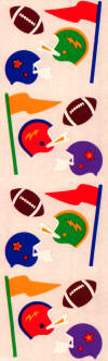 Football (Stuffed) Stickers by Mrs. Grossman's