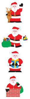 Happy Santa Stickers by Mrs. Grossman's