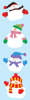 Happy Snowman Stickers by Mrs. Grossman's