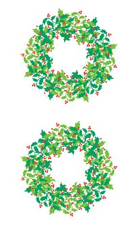Holly Berry Wreath (Refl) Stickers by Mrs. Grossman's