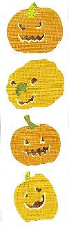 Jack O' Lantern Stickers by Mrs. Grossman's