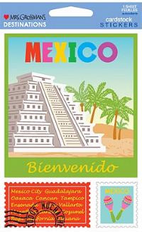 Mexico (Cardstock) Stickers by Mrs. Grossman's