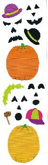 Pumpkin Faces Stickers by Mrs. Grossman's