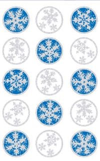 Snowflake Seals (Refl) Stickers by Mrs. Grossman's