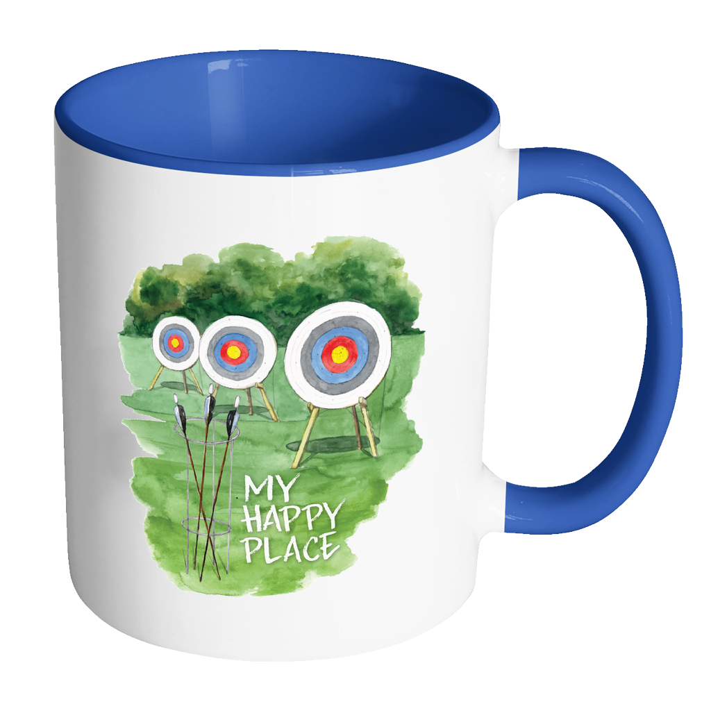 My Happy Place Watercolor 11oz Mug