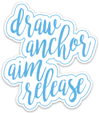 Draw Anchor Aim Release Archery Sticker