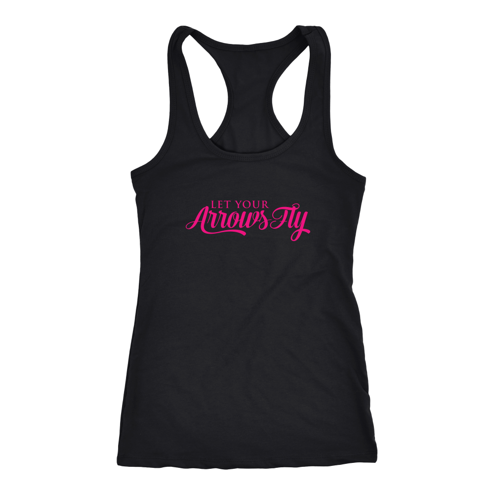 Let Your Arrows Fly Racerback Tank - Black/Pink