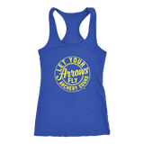 Let Your Arrows Fly Racerback Tank - Royal/Yellow