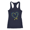 Arrow Heart Doodle Midnight Navy Tank