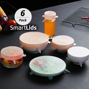 6pc SmartLids™ Silicone Lid Covers