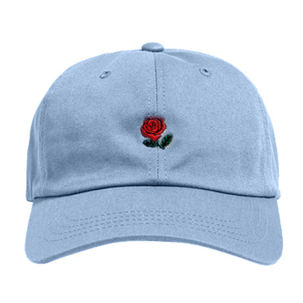 Unisex Cap Adjustable Rose Flower .