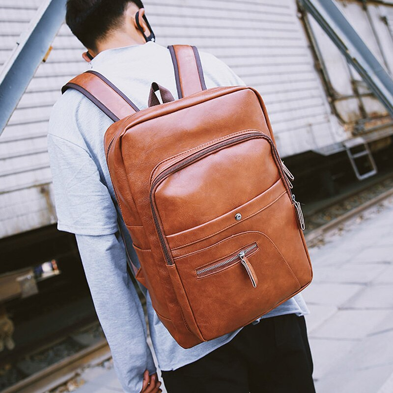 Multi-functiona Leather Laptop Backpack unisex High Quality.