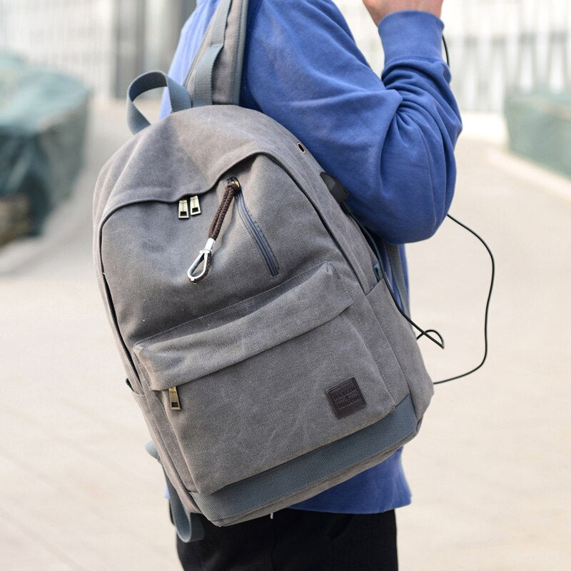 Backpack Unisex with usb charger.