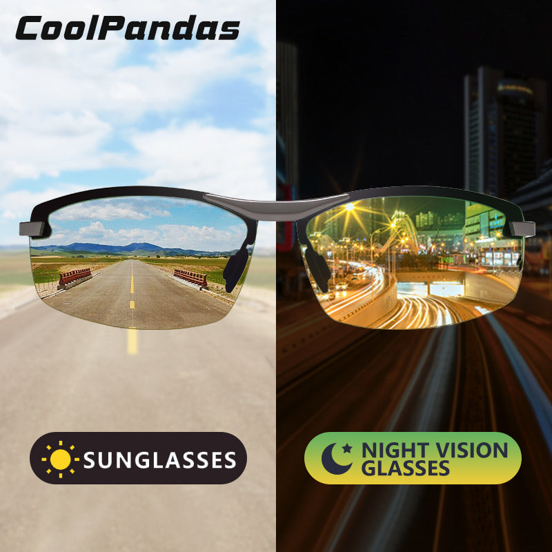 CoolPandas Men Intelligent Photochromic Sunglasses