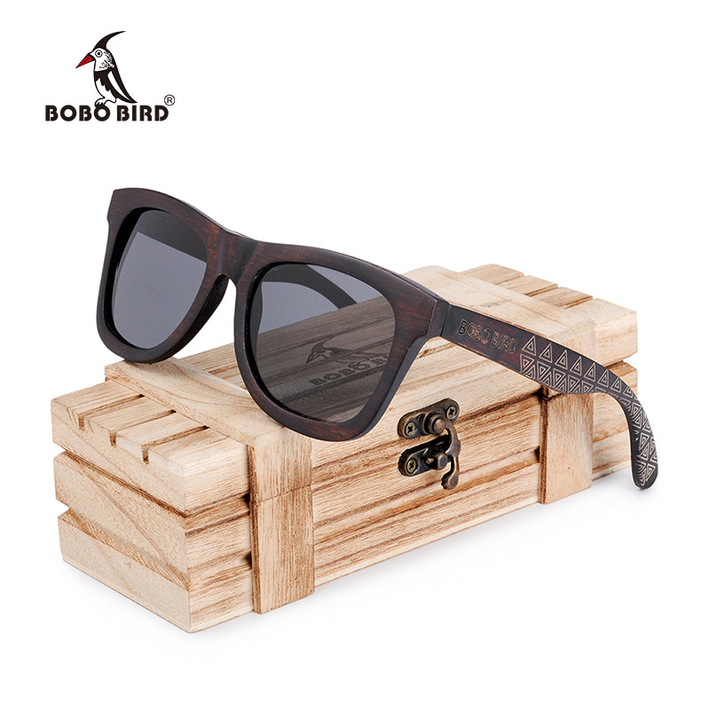 BOBO BIRD Unisex Wood Sunglasses UV400.