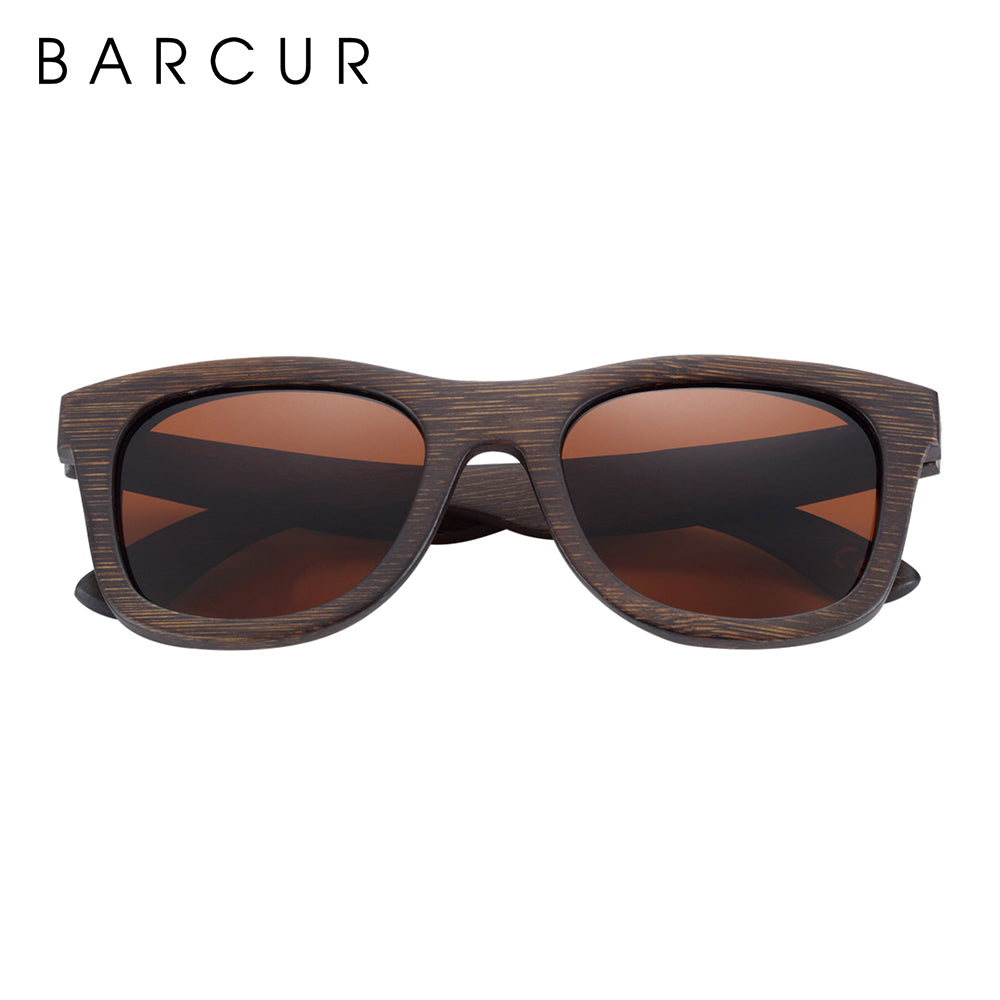BARCUR Natural Wooden Unisex Sunglasses Polarized