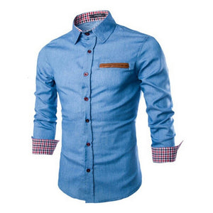 ZOGAA Men Denim Shirts