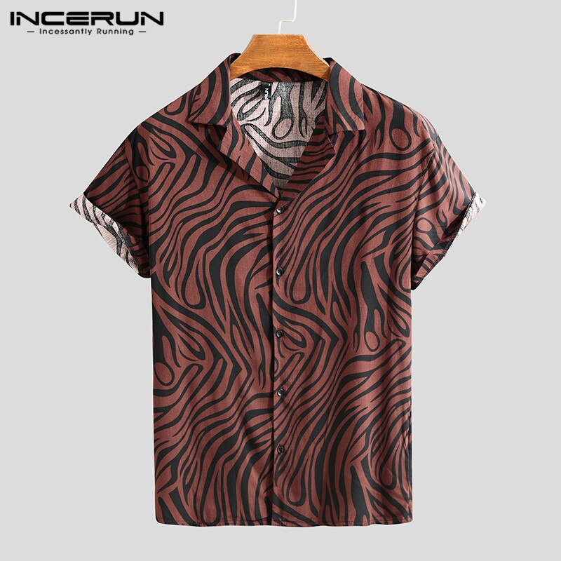 INCERUN Men Shirt Button Casual