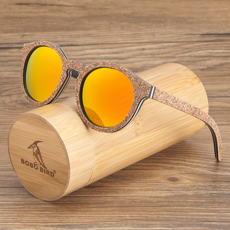 BOBO BIRD Unisex Wooden Sunglasses
