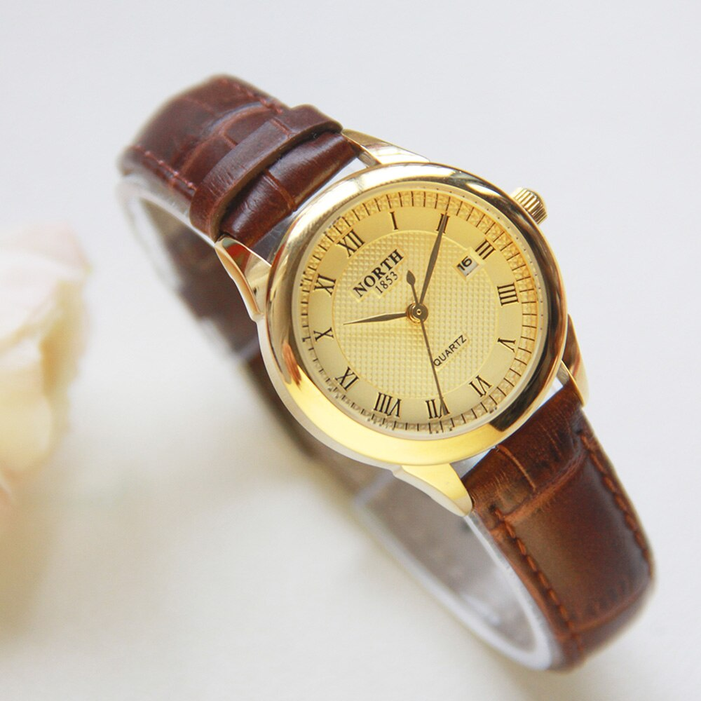 Women Watches on Leather Minimalism stile.