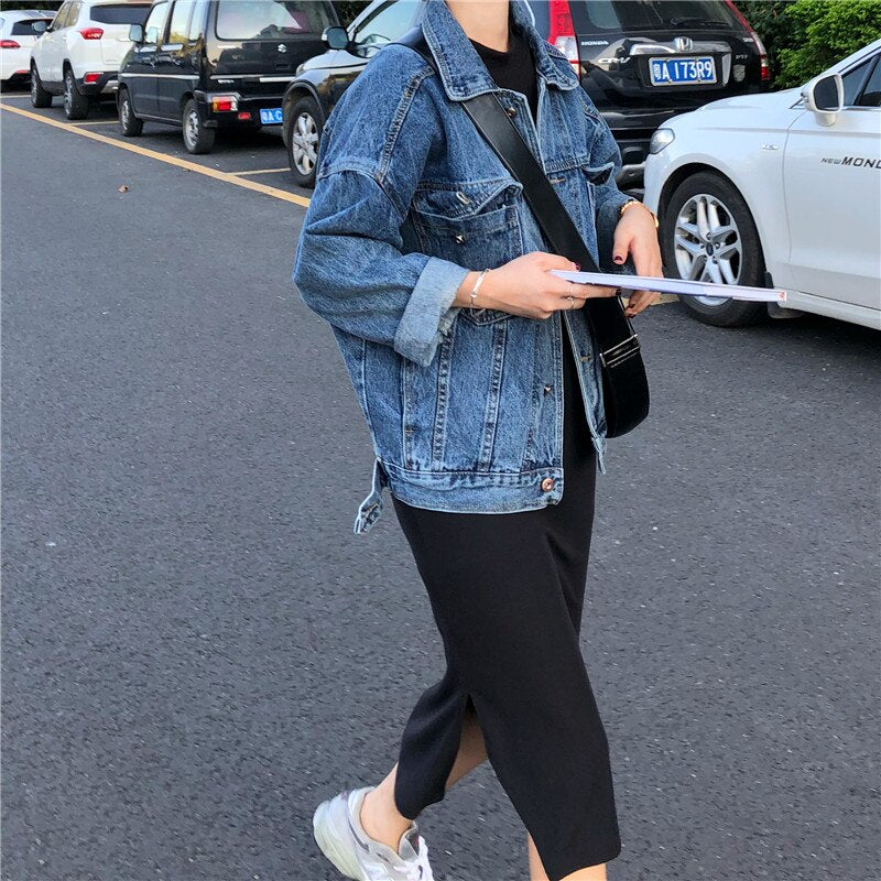 Women's fashion casual jeans Jacket.