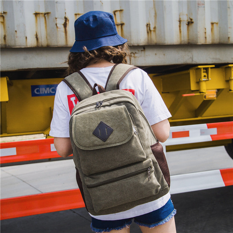 Backpack Canvas Casual Unisex.