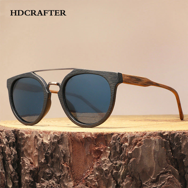 HDCRAFTER Unisex Wood Sunglasses Polarized Lens UV400