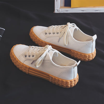 Women Vulcanize Shoes Flats Canvas.
