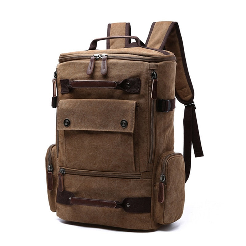 Men backpack vintage canvas, high quality.