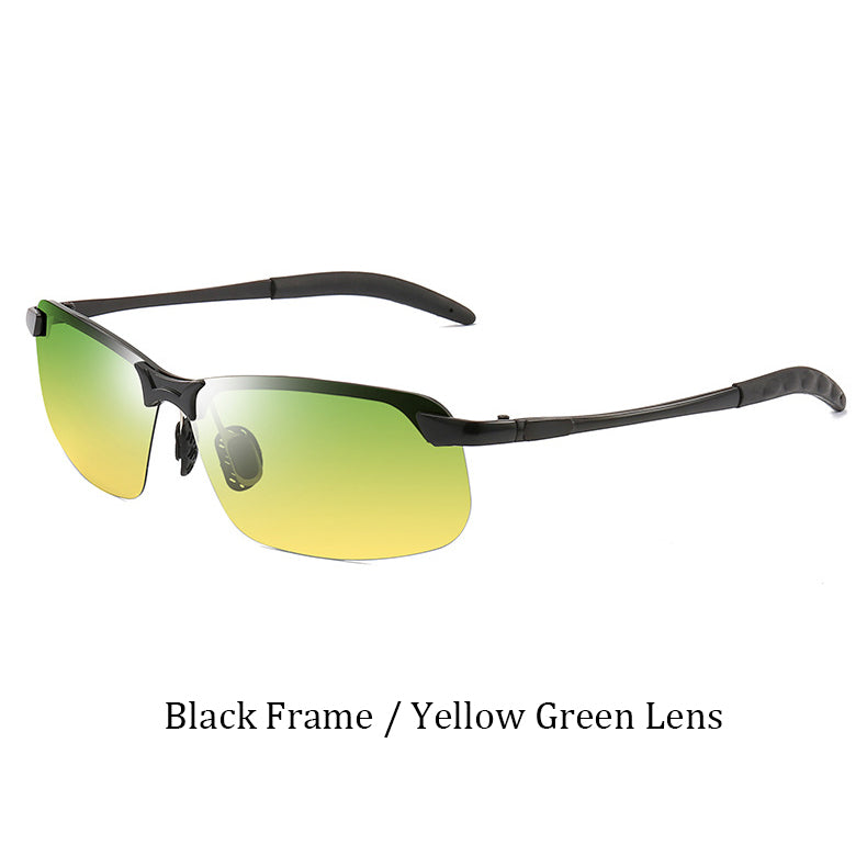 Men Sunglasses Photochromic High Quality Metal Frame Mirror UV400