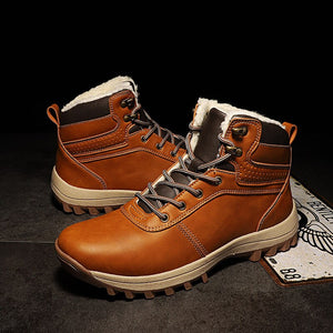 Genuine Leather Men Shoes  For Winter.