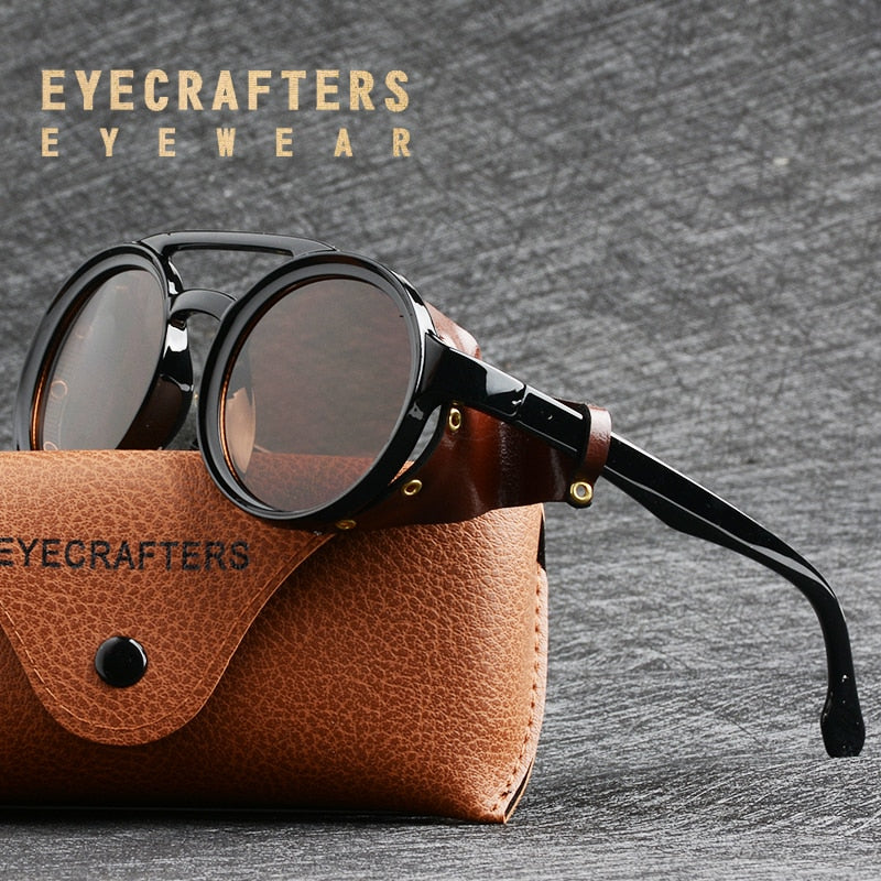 Eyecrafters Men Steampunk Goggles Sunglasses