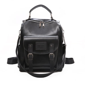 Women Leather Backpack Rucksack Vintage.