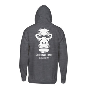 Missing Link Brewing Hoodie Grey
