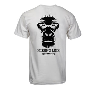 Missing Link Brewing White T-Shirt Back