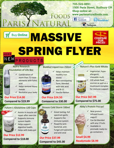 Paris Natural Foods Massive Spring Flyer 2018