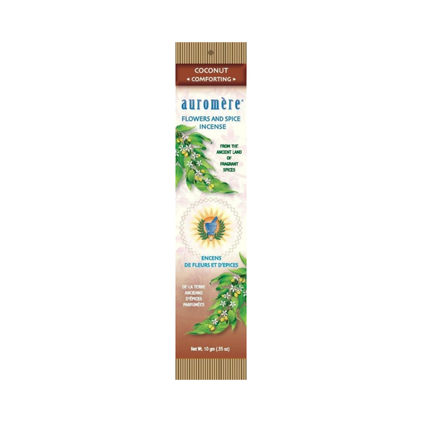 Auromere Flowers & Spice Incense COCONUT 10G