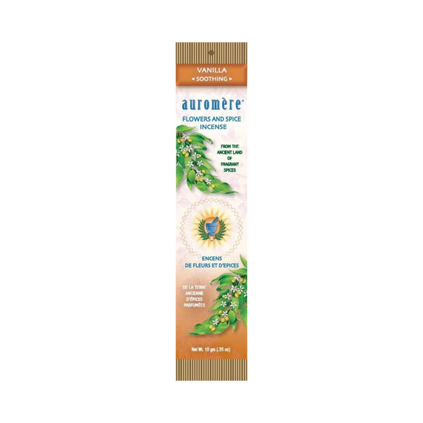 Auromere Flowers & Spice Incense – VANILLA – Soothing