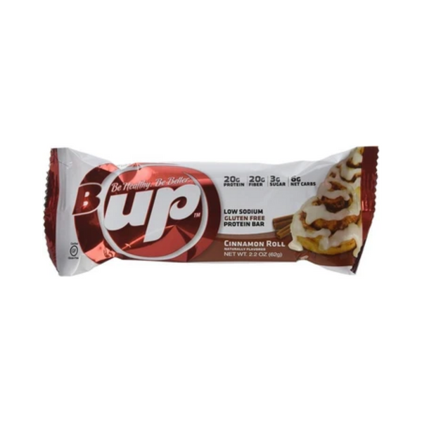 B-UP Be Healthy Cinnamon Roll Protein Bar
