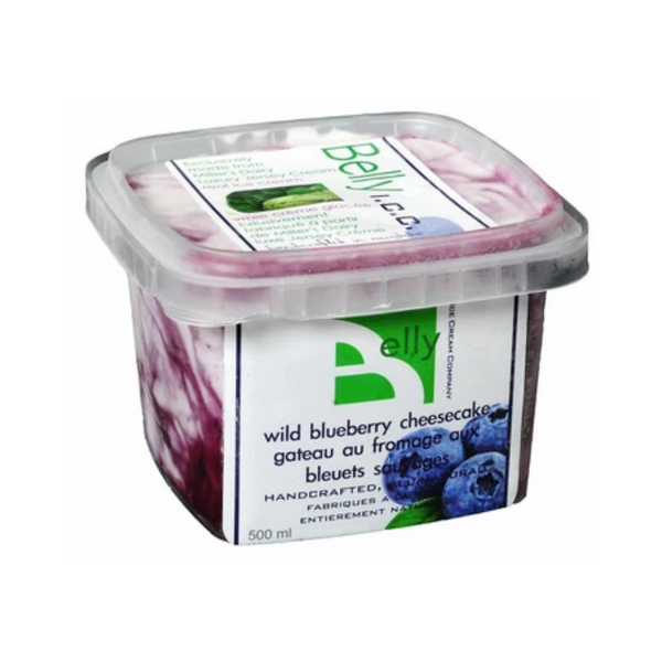Belly Ice Cream Company Wild Blueberry Cheesecake Ice Cream 500ML