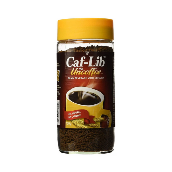 Caf-Lib Original Blend Coffee Alternative with Barley and Chicory 150-Gram