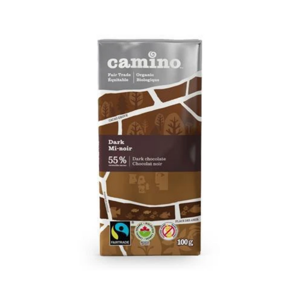 Camino Dark Chocolate Bar 55% 100G