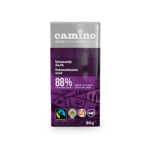 Camino Intensely Dark 88% Dark Chocolate Bar 80G